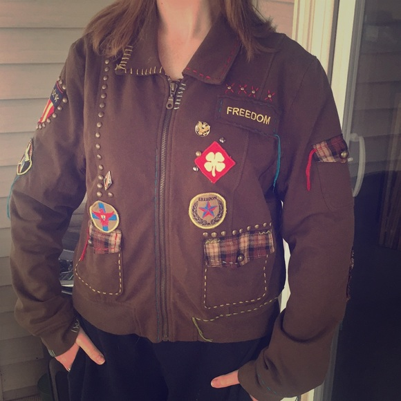 Double D Ranch Jacket with Patches, Pins & Studs